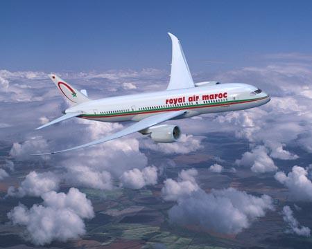 Un aereo Royal Air Maroc