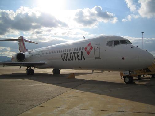 Un aereo Volotea.