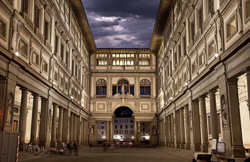 Il Museo degli Uffizi, Firenze.