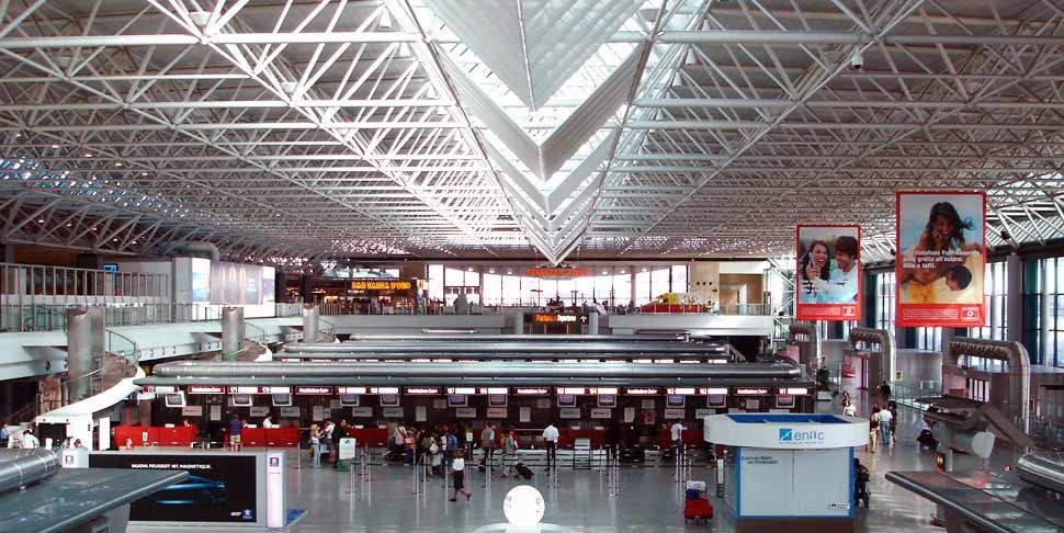 L'aeroporto di Fiumicino.