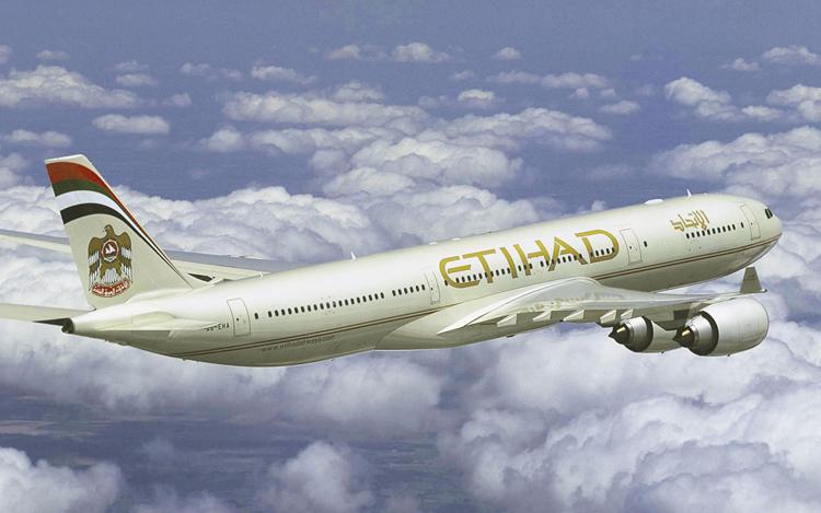 Un aereo Etihad Airways.