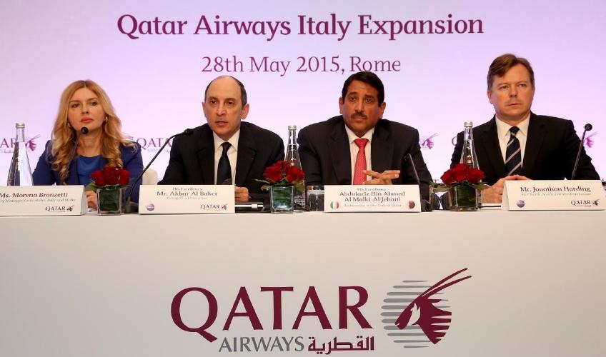 La conferenza stampa di Qatar Airways