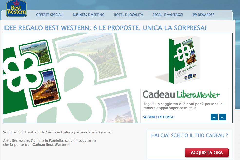 Per Natale tornano i Cadeau Best Western - Webitmag - Web in Travel ...