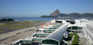 L'aeropoto Santos-Dumont di Rio de Janeiro.