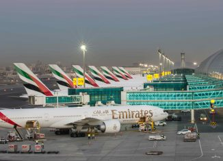 L'aeroporto di Dubai.