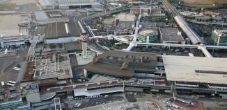 L'aeroporto di Fiumicino, Roma.