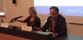 Roberto Rettani, presidente di Fiera Milano, con Roberta Guaineri, assessore turismo del Comune di Milano
