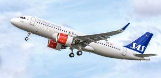 Il nuovo A320neo di Sas