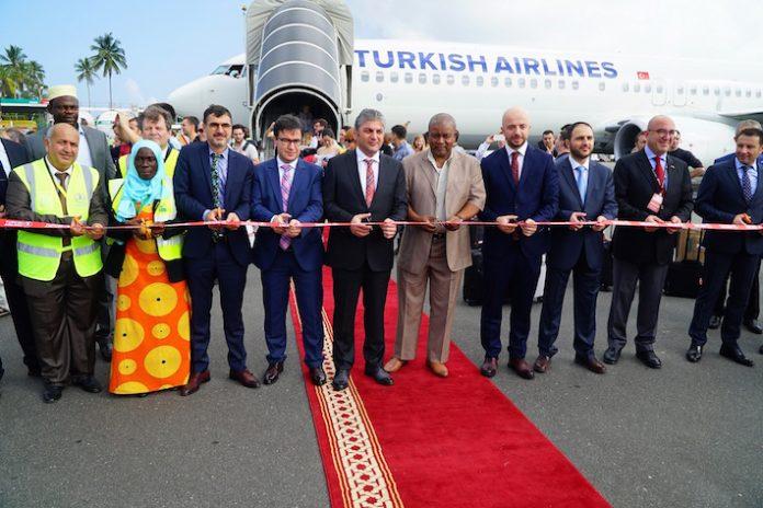 Turkish Airlines, il taglio del nastro del volo per Zanzibar