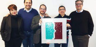 Il team Reisenplatz da sinistra Antonella Signorini, Massimo Ravaglia, Luca Adami, Giuseppe Lamannuzzi e Benny Faro