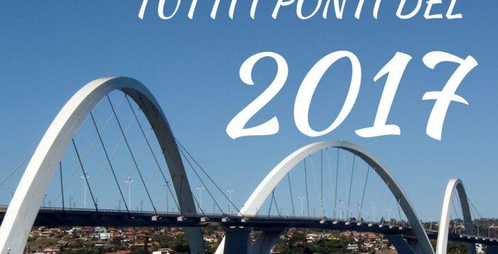 ponti 2017 per programmare le prossime vacanze