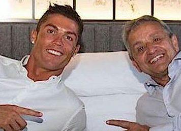 Cristiano Ronaldo e Dionisio Pestana