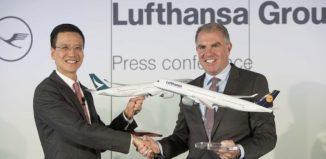 Accordo di code-sharing tra Cathay Pacific e Lufthansa Goup