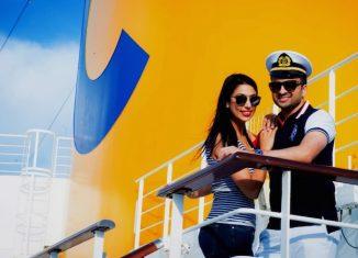 Gli sposi a bordo di Costa Fascinosa