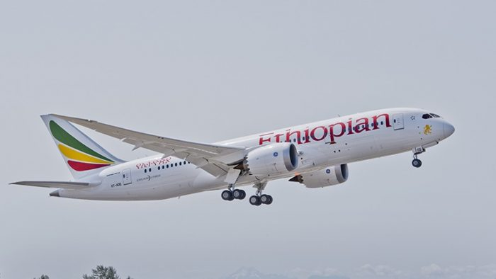 Il Boeing 787 Dreamliner di Ethiopian Airlines