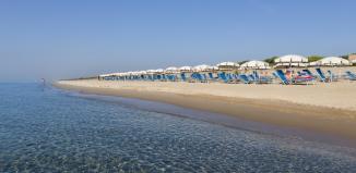 La spiaggia di Ethra Reserve