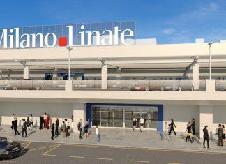Il rendering della facciata di Linate
