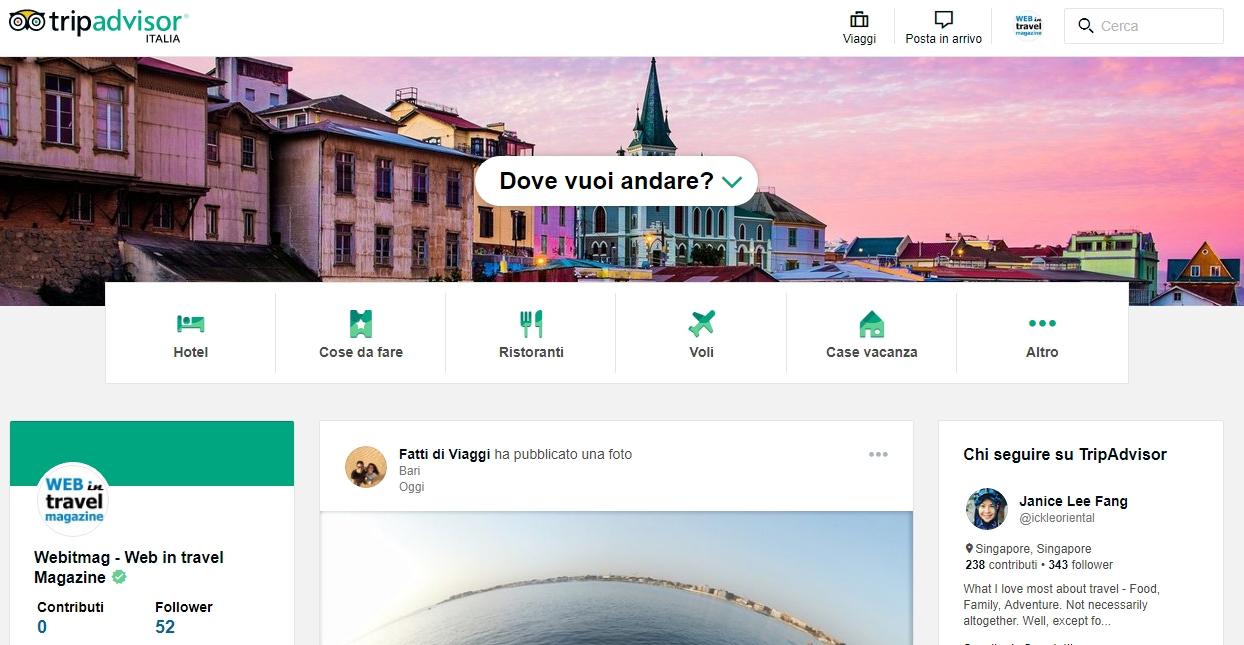 Tripadvisor il nuovo social dei viaggi online per tutti for Sito mobili online